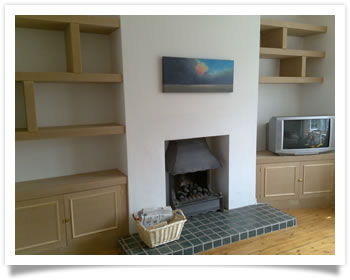 Custom built-in shelves and cupboards in Beeston, Nottingham