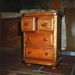 Hand made miniature chest of drawers