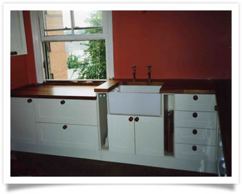 Traditional fitted kitchen with butler sink in Wollaton