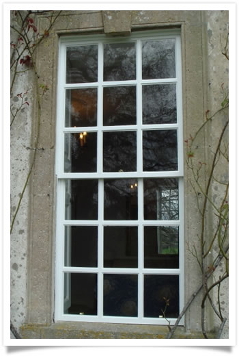 Sash window renovations in a period property at Shelford, Nottinghamshire