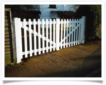 New wooden picket gates for a house in Edwalton
